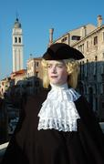 Man in costume during the carnival of venice,italy Stock Photos