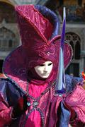 Mask at st. mark's square during the carnival of venice,italy Stock Photos