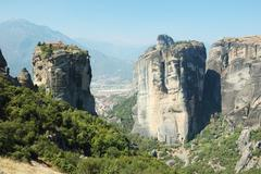 Holy trinity (agia triada)rock orthodox monastery,meteora,greece Stock Photos