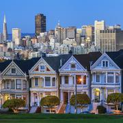 Famous view of san francisco Stock Photos