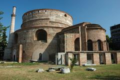 galerius' rotunda of st. george or agios georgios (galerius' tomb) in thessal - stock photo