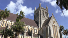 The Cathedral of the Most Holy Trinity Hamilton Bermuda Stock Footage