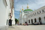 Stock Photo of tourists are visiting kiev pechersk lavra monastery ,kiev,ukraine