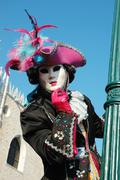 Lady in costume at st. mark's square during the carnival of venice,italy Stock Photos