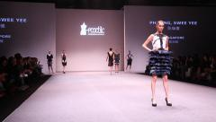 Catwalk at EcoChic Design Award sustainable fashion design competition Stock Footage