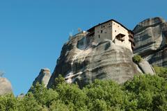 Agios nikolaos rock monastery at meteora,greece,balkans Stock Photos