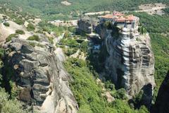 Holy monastery of varlaam,meteora,greece,unesco heritage site Stock Photos