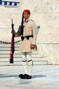 greek presidential guard change, athens parliament,greece - stock photo
