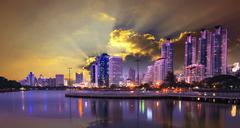 Stock Photo of modern building and city life landmark in heart of bangkok capital of thailand