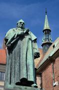 Monument of famous professor of jagiellonian university, jozef dietl Stock Photos