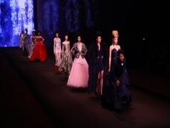 Vivienne Westwood Presents Catwalk during Hong Kong Fashion Week Stock Footage