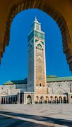 the hassan ii mosque, casablanca - stock photo