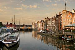 Stock Photo of amsterdam cityscape at evening.