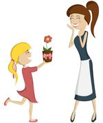 Surprise Mom! Stock Illustration