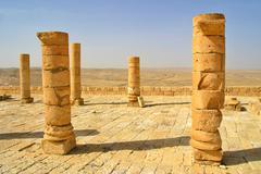 ruins of town of avdat in israel. - stock photo