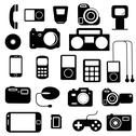Stock Illustration of icon  with  electronic gadgets. vector illustration.