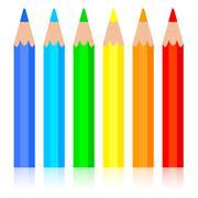 set of colored pencil, vector illustration. - stock illustration