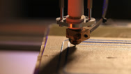 Stock Video Footage of printing  with plastic wire filament on 3d printer