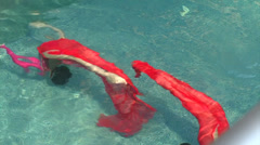 Synchronized swimming-somersault in the water Stock Footage