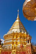 doi suthep temple in chiang mai, thailand - stock photo