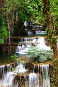Huay mae kamin waterfall in Thailand Stock Photos
