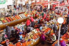 Food market in gomel. this is an example of existing food market in belarus Stock Photos