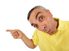Surprised man with wow expression. Stock Photos