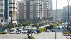 Dubai Blu Dubai Traffic boulevard intersection  UAE Stock Footage