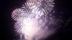 Stock Video Footage of celebratory fireworks