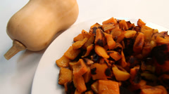 Butternut Squash Farm To Table Stock Footage