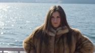 Stock Video Footage of Wicked beautiful woman in fur 14-bit RAW