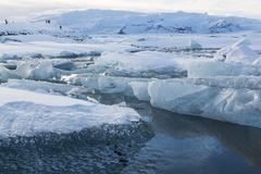 Jokulsarlon ice jam - stock photo