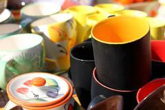 Ceramic cup in shop Stock Photos