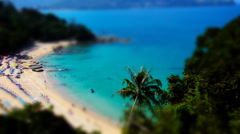 Wonderful Seascape. Phuket, Thailand. Tilt Shift Effect. Stock Footage