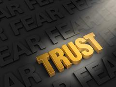 Stock Illustration of spotlight on trust not fear