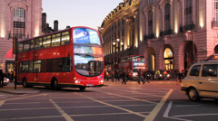 Shot showing red double decker buses Stock Footage