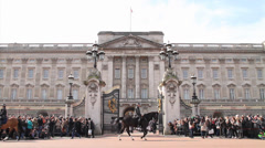 Opening the Gate Buckingham Palace - stock footage