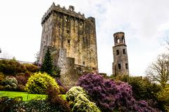 irish castle of blarney , famous for the stone of eloquence. ireland - stock photo