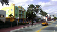 Stock Video Footage of Art Deco District Miami Beach