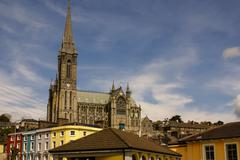 St. colman's neo-gothic cathedral in cobh, south ireland Stock Photos