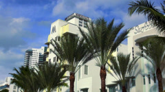 Art Deco Hotel Marseille Miami Beach Stock Footage