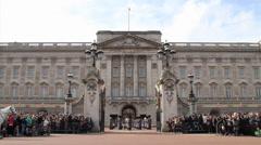 Horseback and Band At Buckingham Palace Stock Footage