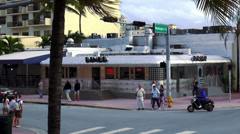 American Diner in Miami Beach 50ies style - stock footage