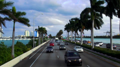 Traffic Miami Beach to Miami - stock footage