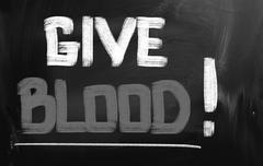 Give blood concept Stock Illustration