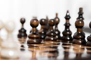 Stock Photo of wooden chess pieces