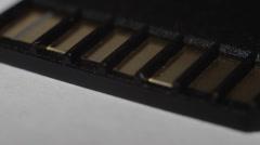 SD card macro - closeup Stock Footage