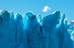 Blue ice of perito moreno glacier, argentina Stock Photos