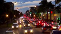 Evening Traffic rush hour Miami - stock footage