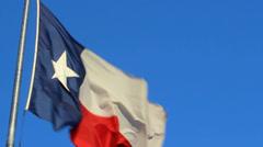 Texas Flag slow motion 100 Stock Footage